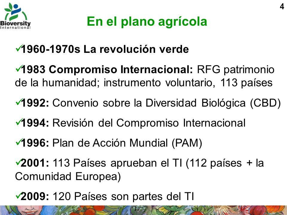 En el plano agrícola 1960-1970s La revolución verde
