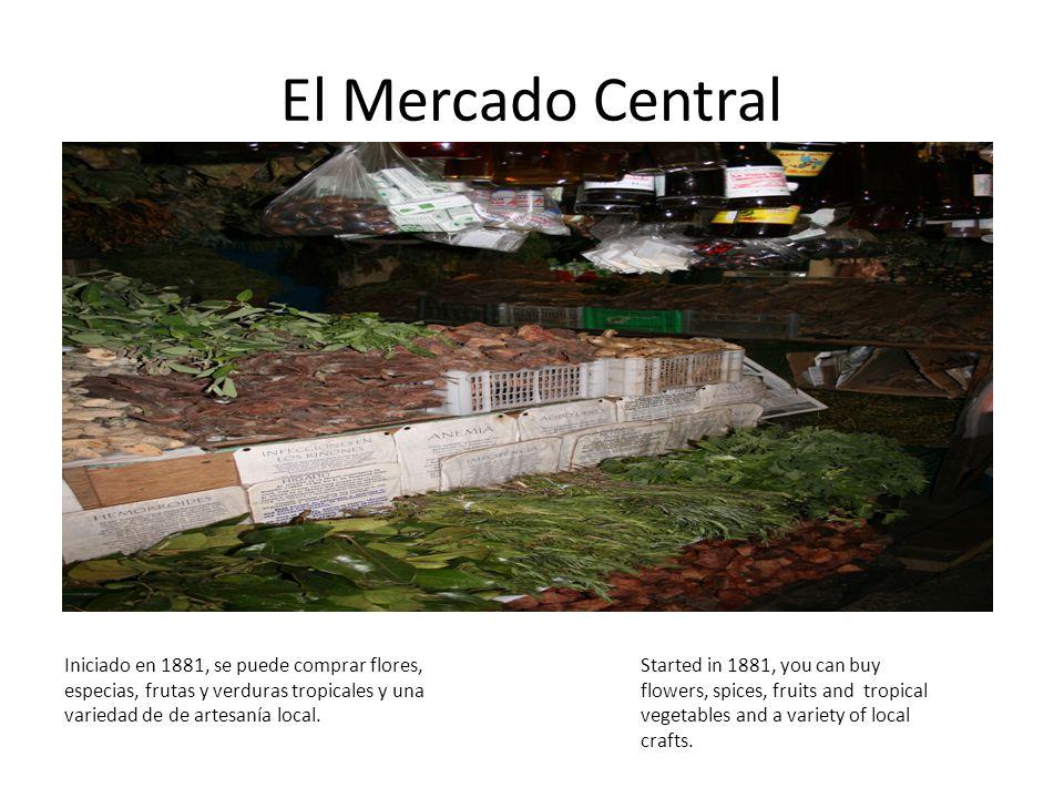 El Mercado Central Iniciado en 1881, se puede comprar flores, especias, frutas y verduras tropicales y una variedad de de artesanía local.