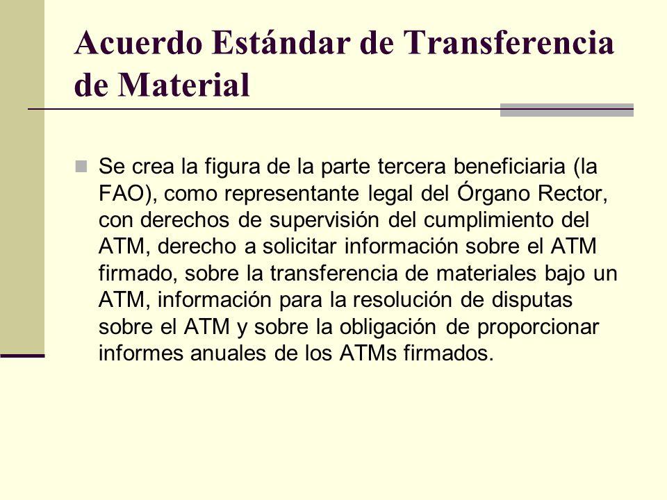 Acuerdo Estándar de Transferencia de Material