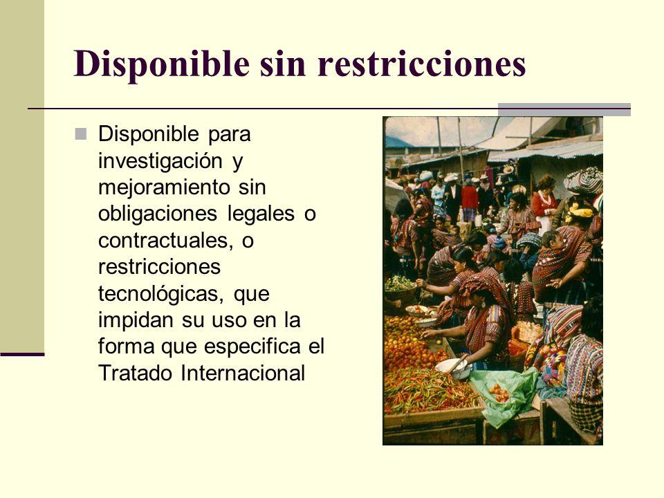 Disponible sin restricciones