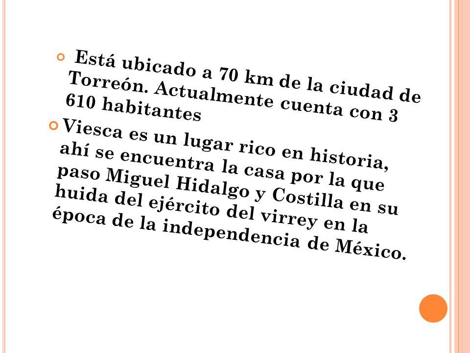 Está ubicado a 70 km de la ciudad de Torreón
