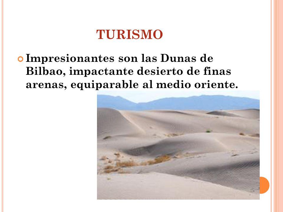 turismo Impresionantes son las Dunas de Bilbao, impactante desierto de finas arenas, equiparable al medio oriente.