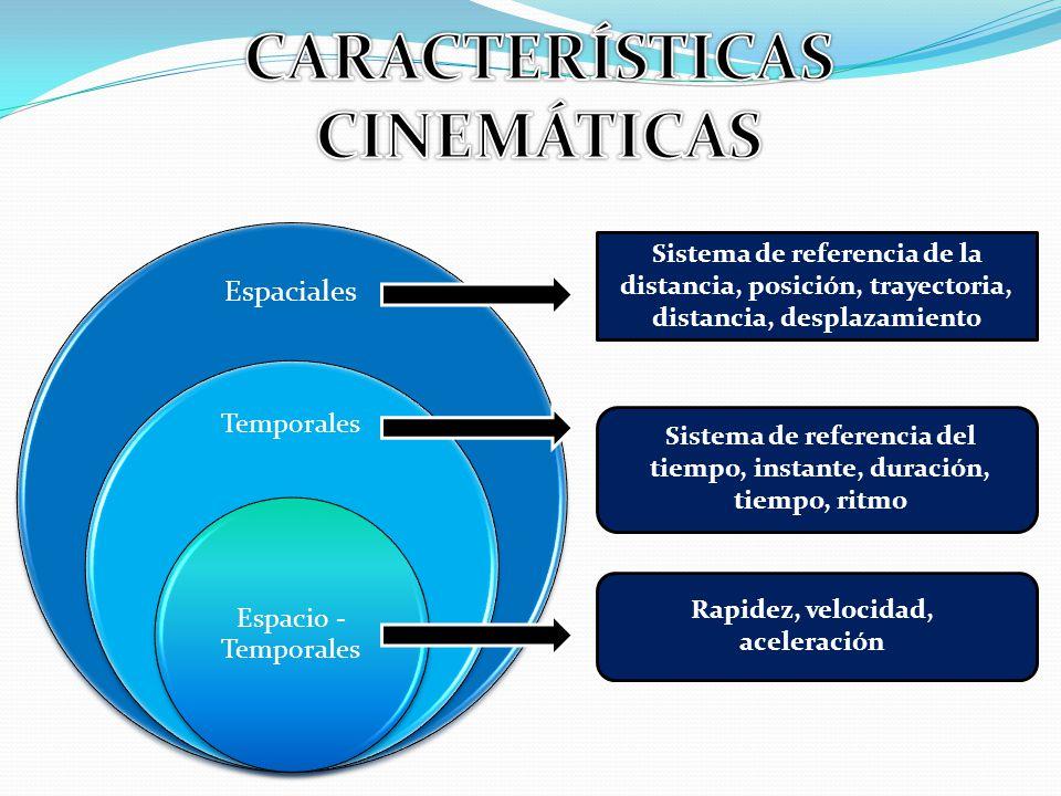 CARACTERÍSTICAS CINEMÁTICAS