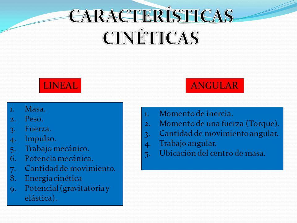CARACTERÍSTICAS CINÉTICAS