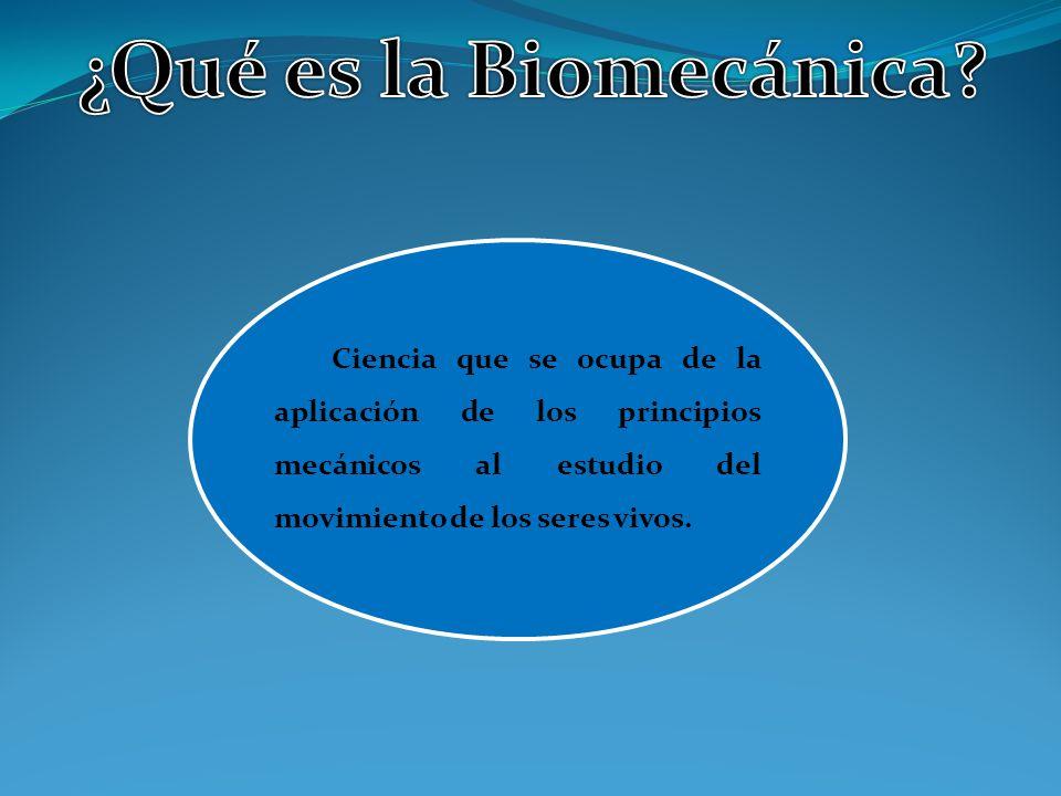 ¿Qué es la Biomecánica.