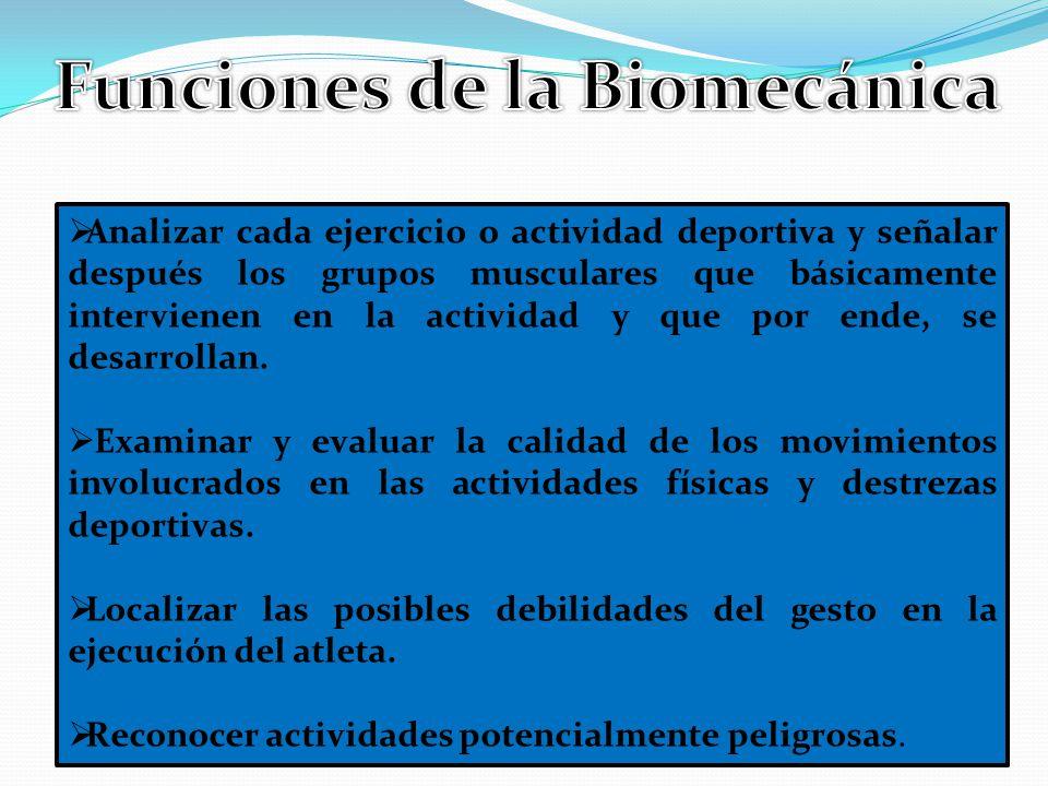 Funciones de la Biomecánica