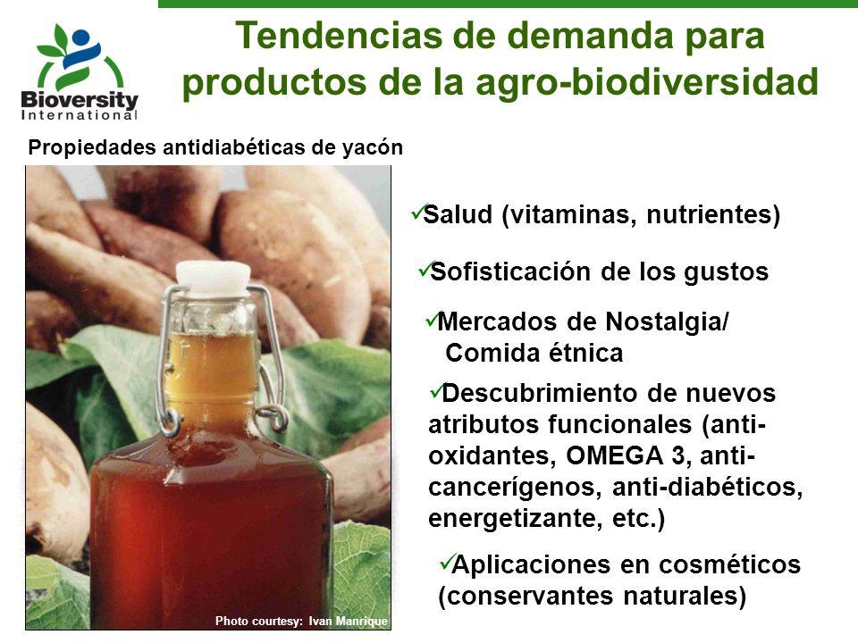 Tendencias de demanda para productos de la agro-biodiversidad