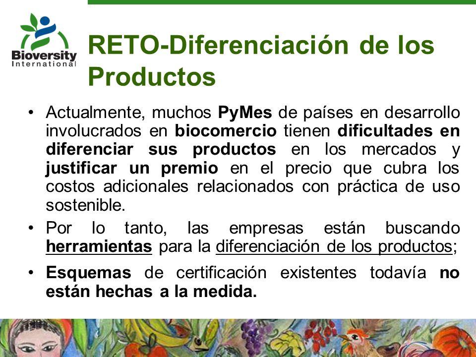 RETO-Diferenciación de los Productos