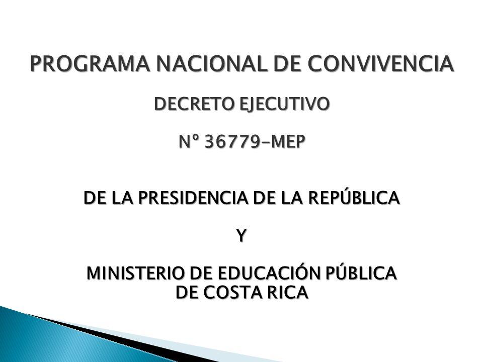 PROGRAMA NACIONAL DE CONVIVENCIA