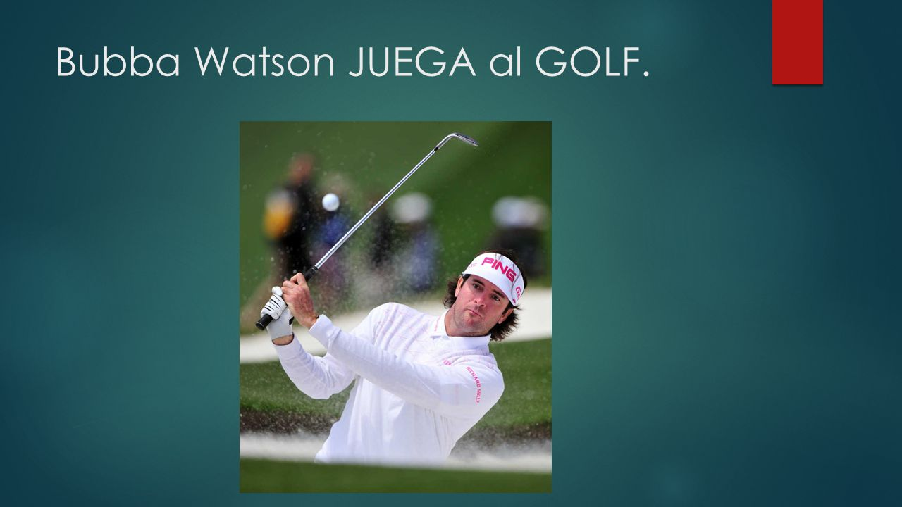 Bubba Watson JUEGA al GOLF.
