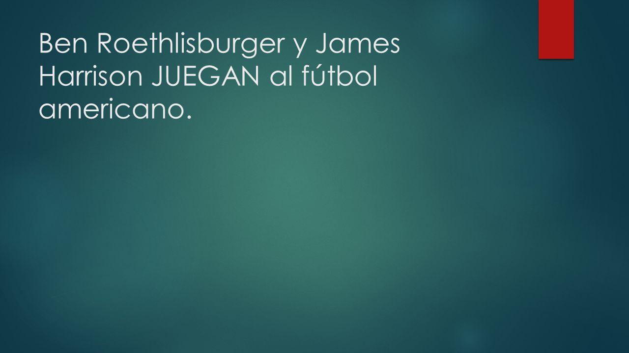 Ben Roethlisburger y James Harrison JUEGAN al fútbol americano.