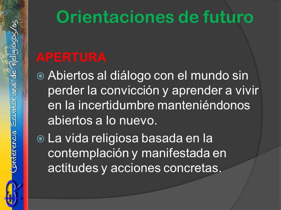 Orientaciones de futuro