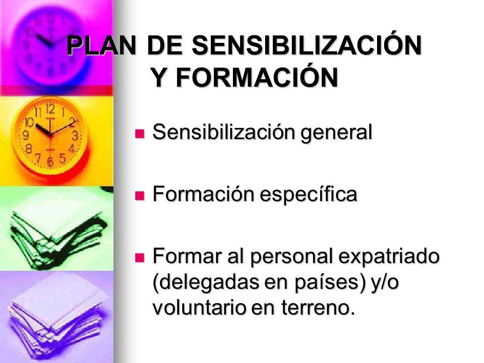 PLAN DE SENSIBILIZACIÓN Y FORMACIÓN