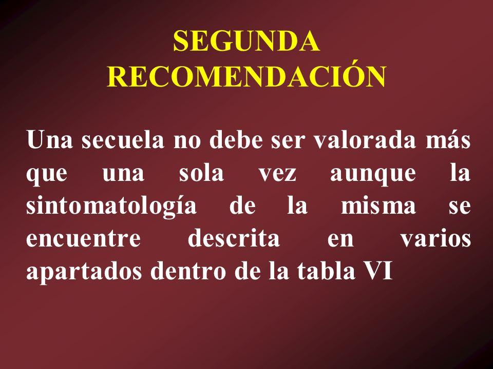 SEGUNDA RECOMENDACIÓN