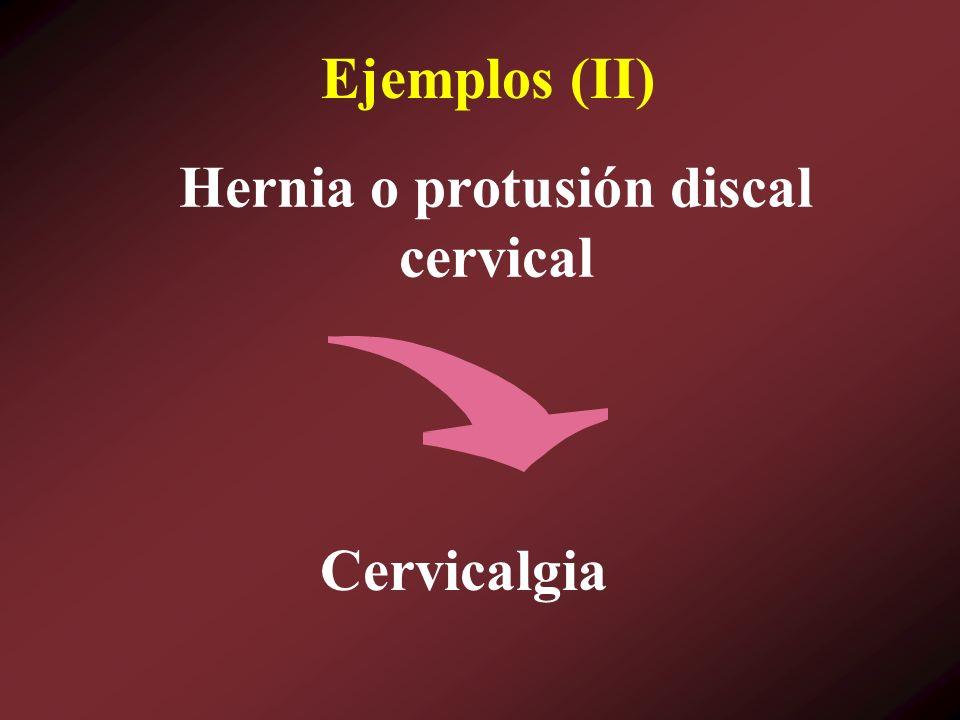 Hernia o protusión discal cervical