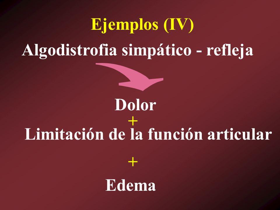 Algodistrofia simpático - refleja