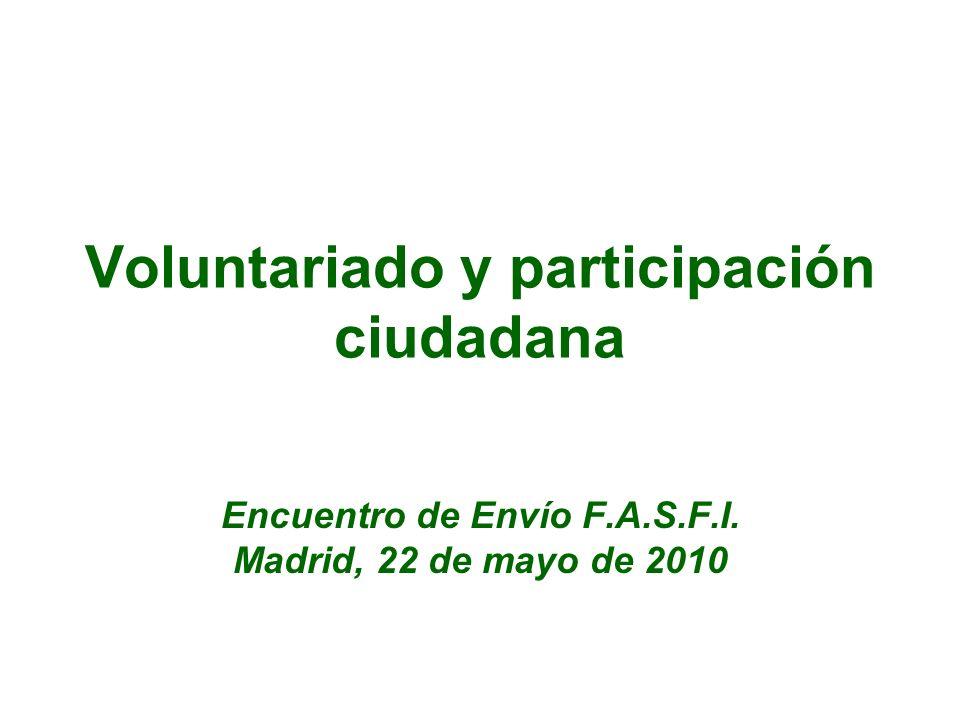 Voluntariado y participación ciudadana