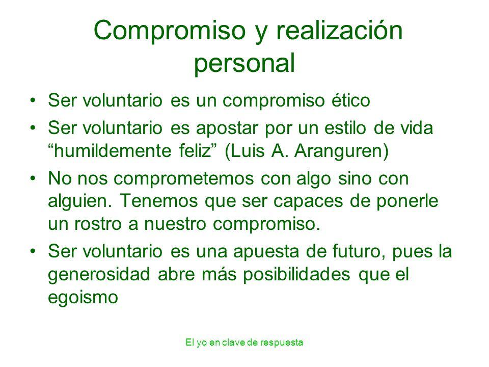 Compromiso y realización personal