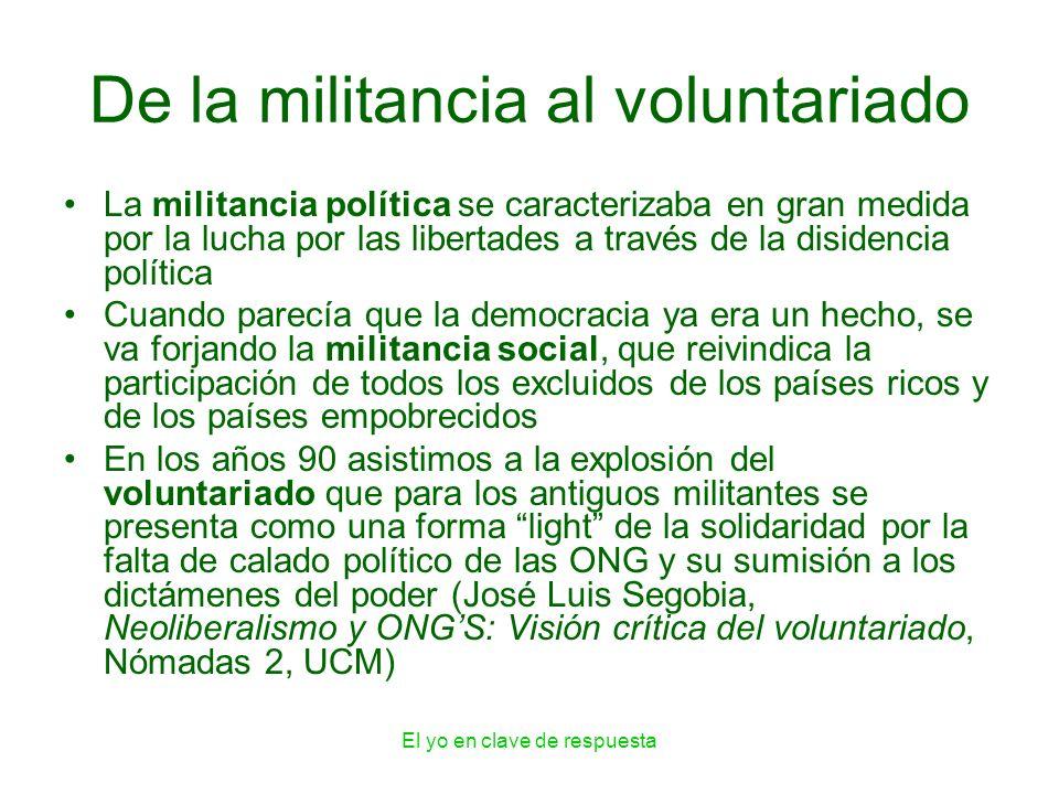 De la militancia al voluntariado
