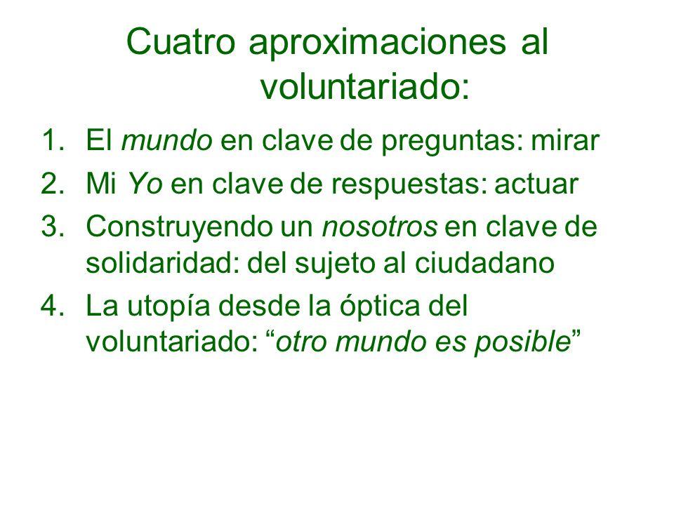 Cuatro aproximaciones al voluntariado: