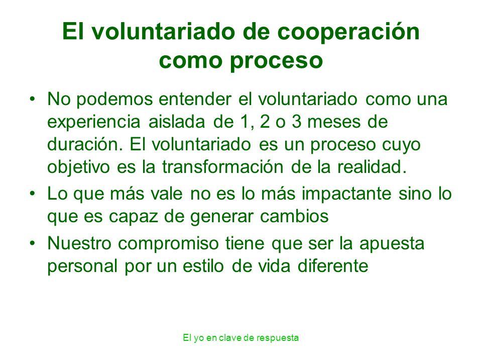 El voluntariado de cooperación como proceso