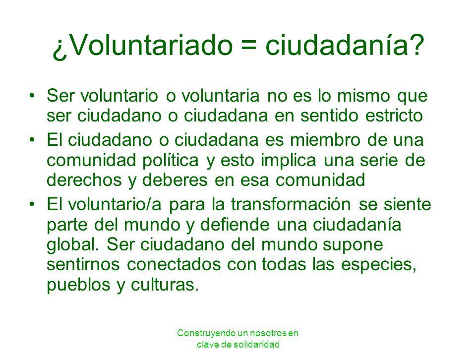 ¿Voluntariado = ciudadanía