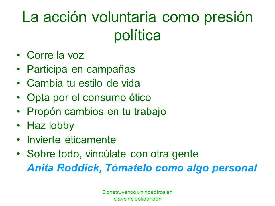 La acción voluntaria como presión política