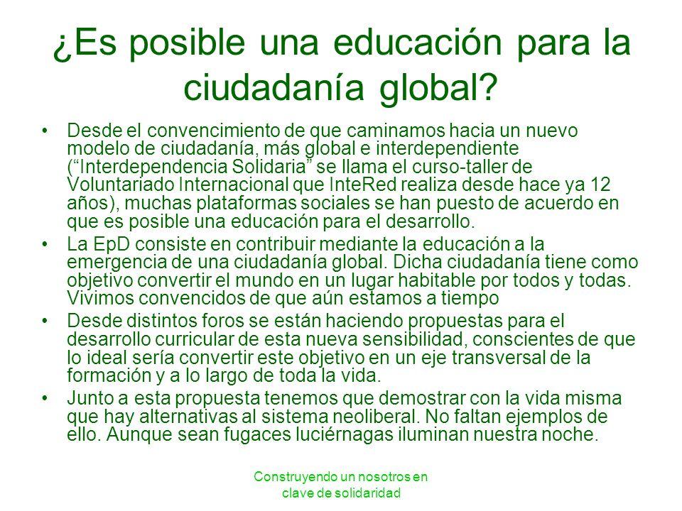 ¿Es posible una educación para la ciudadanía global