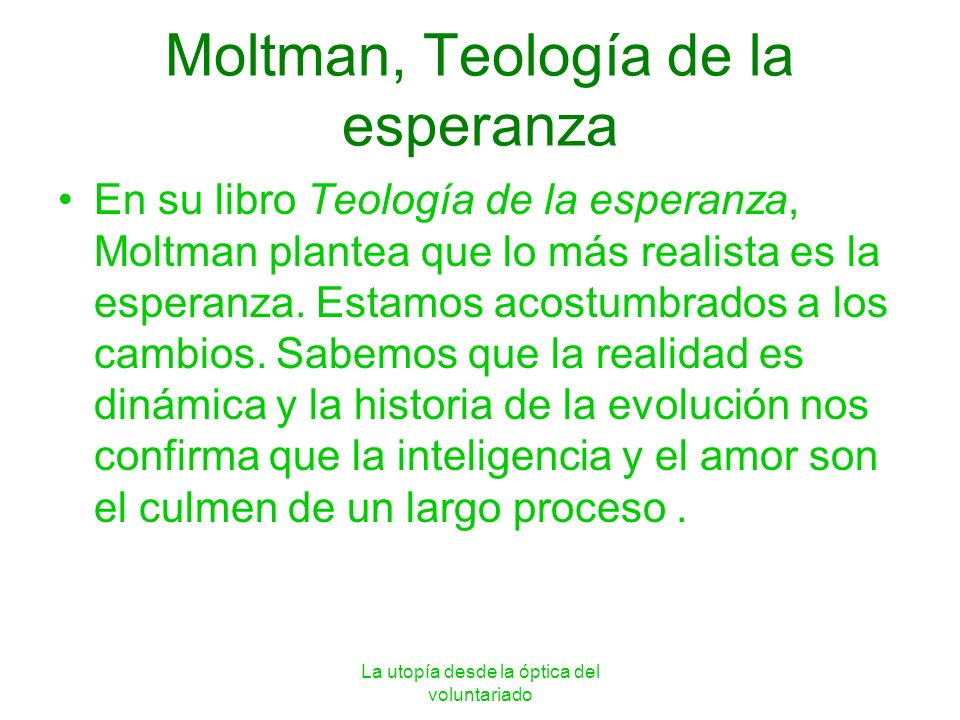 Moltman, Teología de la esperanza