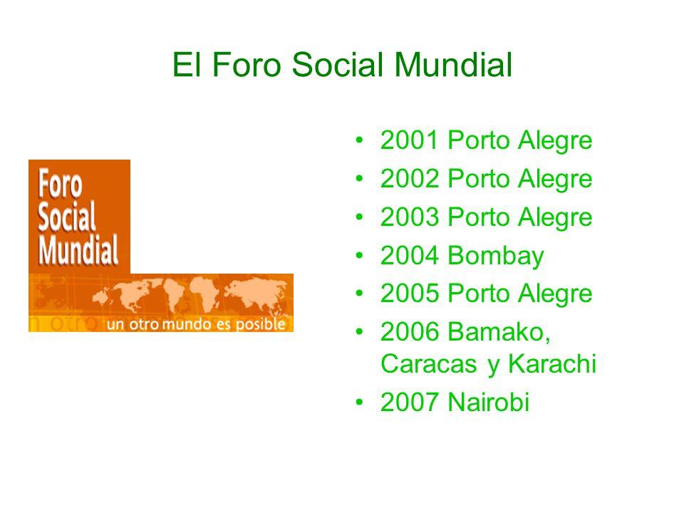 El Foro Social Mundial 2001 Porto Alegre 2002 Porto Alegre