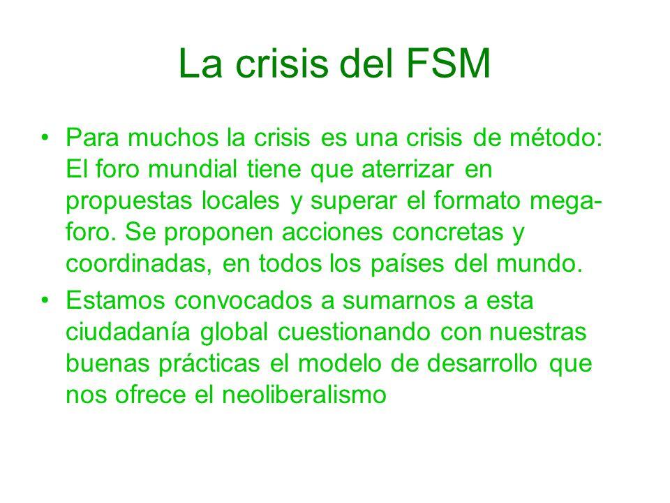 La crisis del FSM