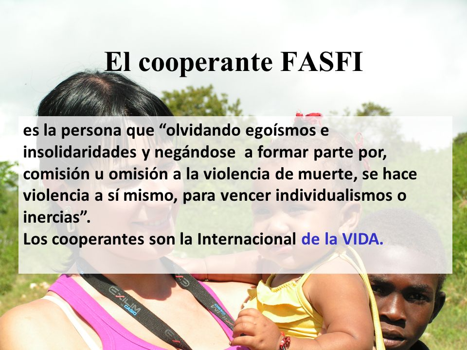 El cooperante FASFI