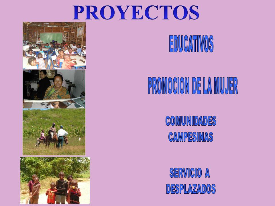 PROYECTOS EDUCATIVOS PROMOCION DE LA MUJER COMUNIDADES CAMPESINAS