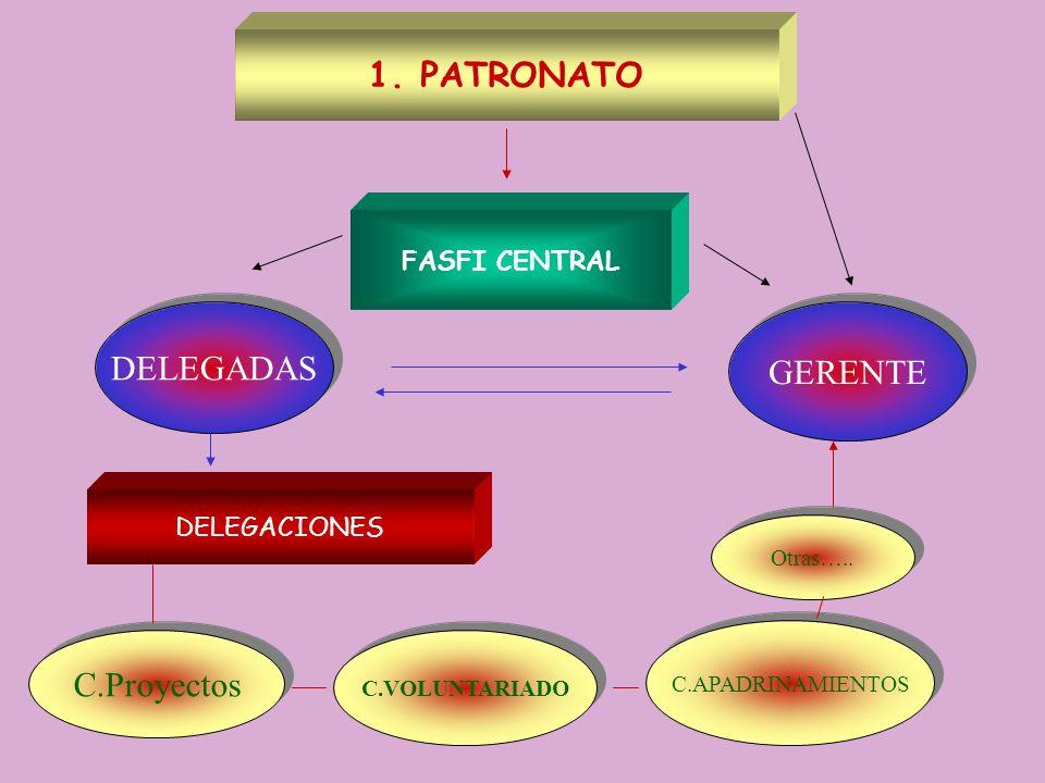 PATRONATO DELEGADAS GERENTE C.Proyectos FASFI CENTRAL DELEGACIONES