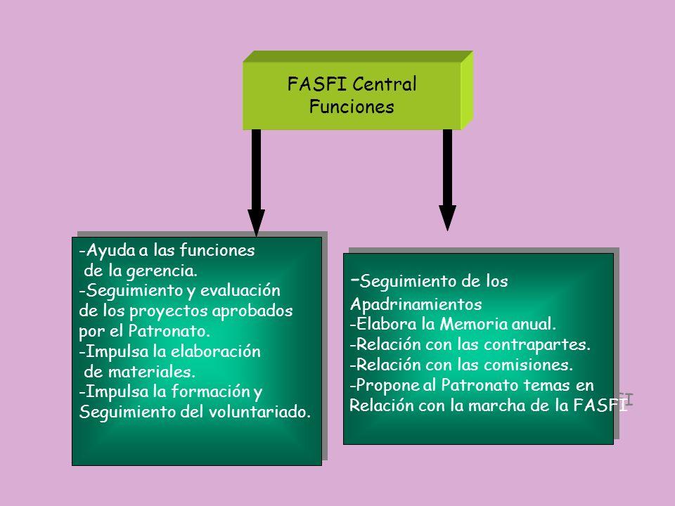 -Seguimiento de los FASFI Central Funciones -Ayuda a las funciones