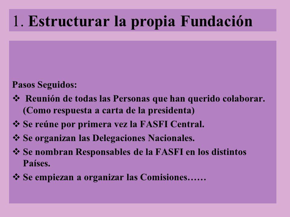 1. Estructurar la propia Fundación