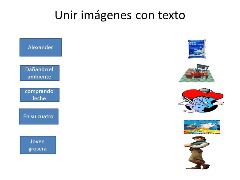 Unir imágenes con texto