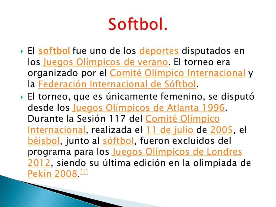 Softbol.