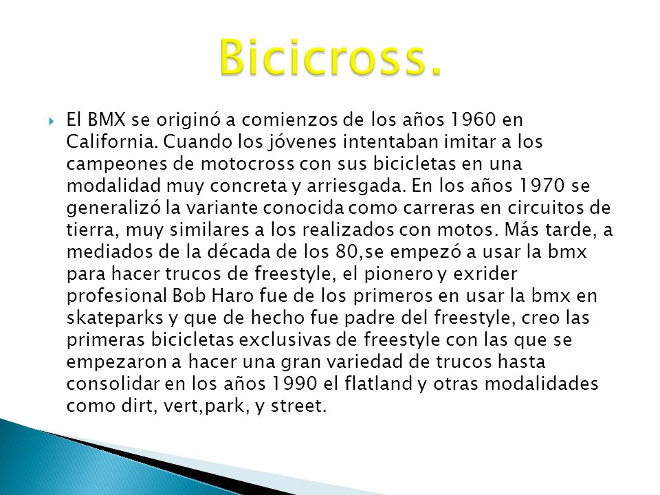 Bicicross.