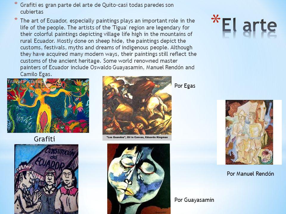 Grafiti es gran parte del arte de Quito-casi todas paredes son cubiertas