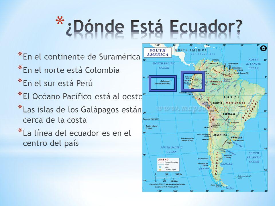 ¿Dónde Está Ecuador En el continente de Suramérica