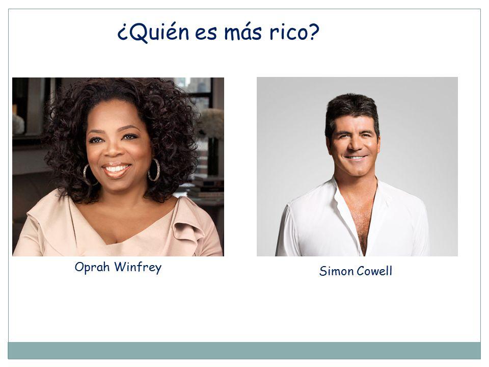 ¿Quién es más rico Oprah Winfrey Simon Cowell