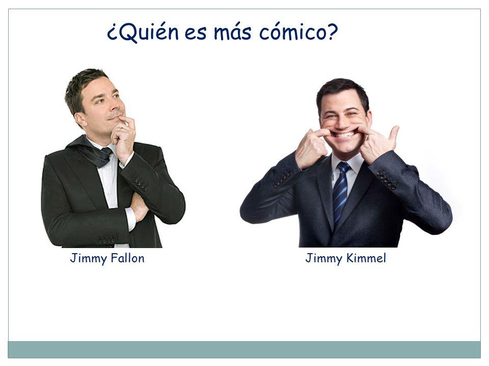 ¿Quién es más cómico Jimmy Fallon Jimmy Kimmel