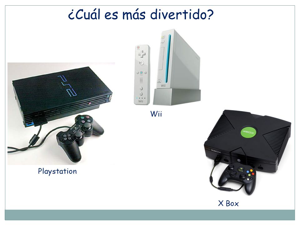 ¿Cuál es más divertido Wii Playstation X Box