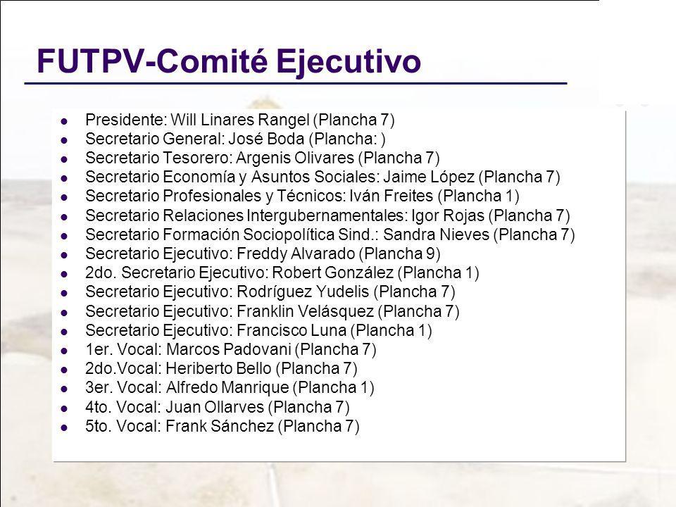 FUTPV-Comité Ejecutivo