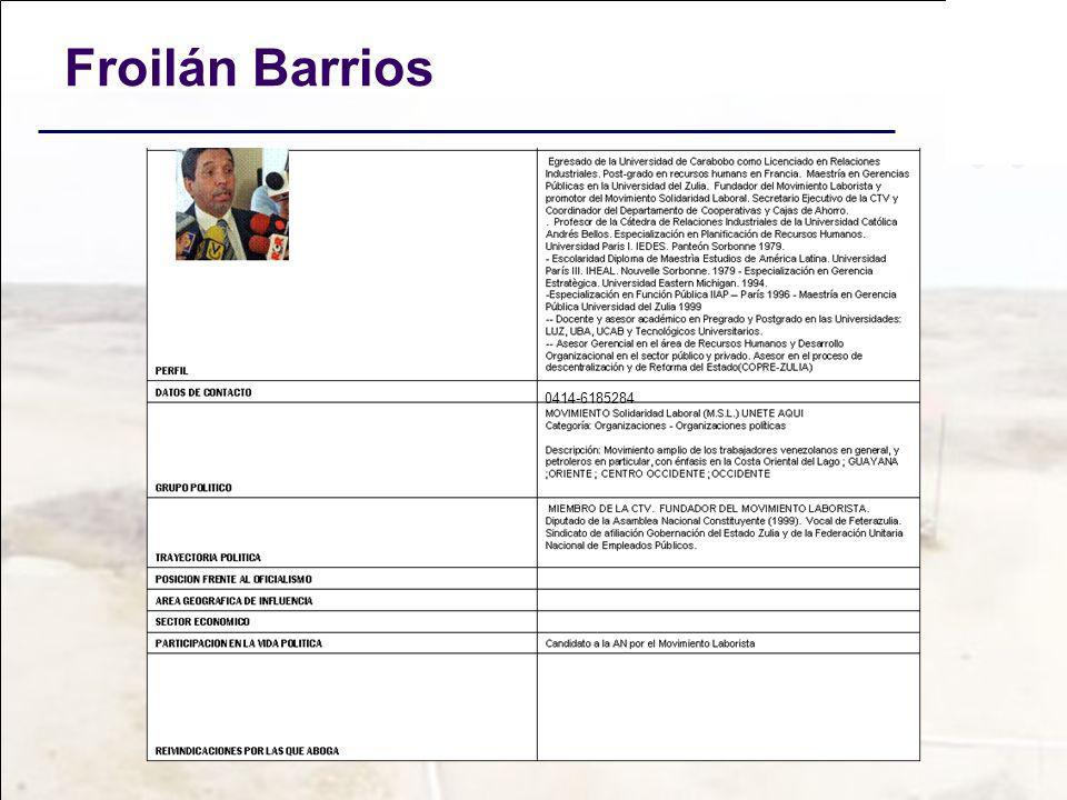 Froilán Barrios 0414-6185284