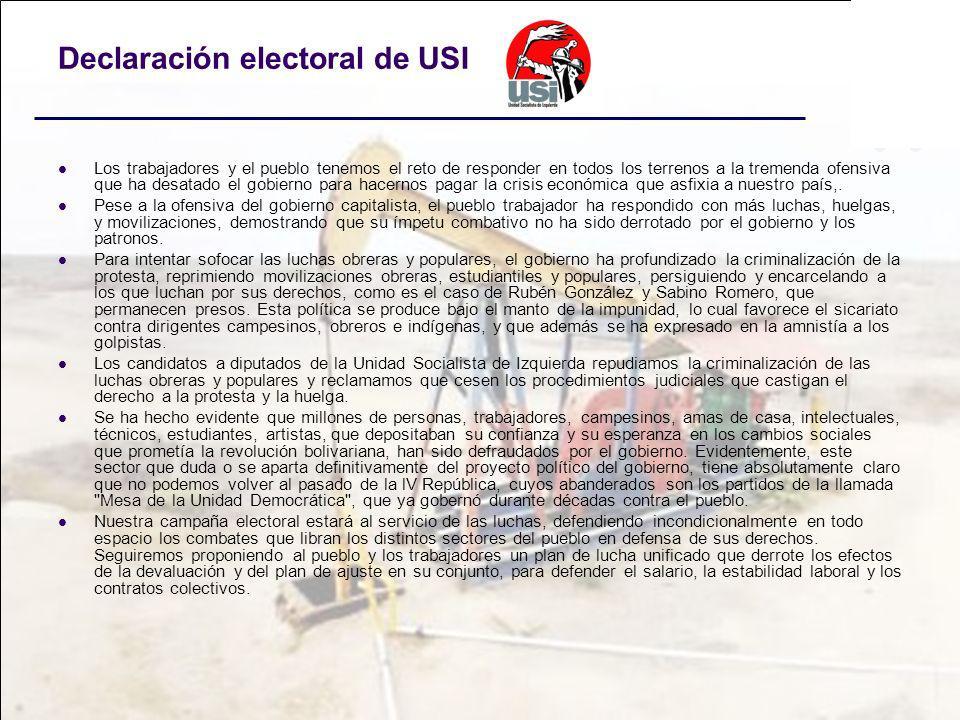 Declaración electoral de USI
