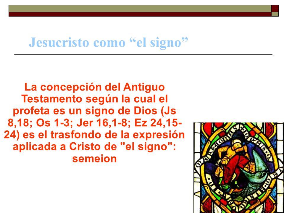Jesucristo como el signo