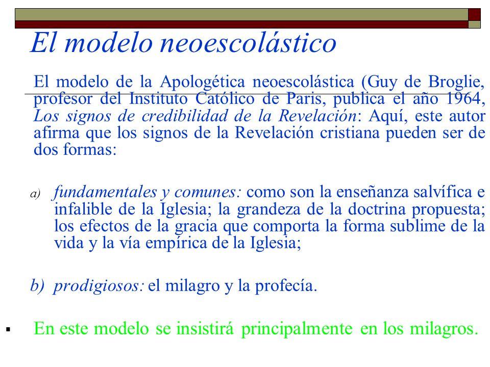 El modelo neoescolástico