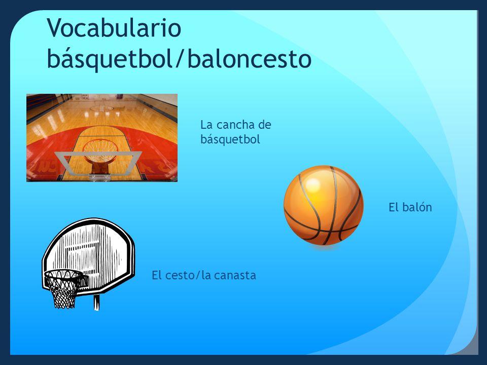 Vocabulario básquetbol/baloncesto